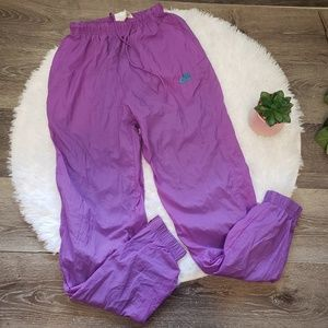 Vintage Nike Purple Windbreaker Pants